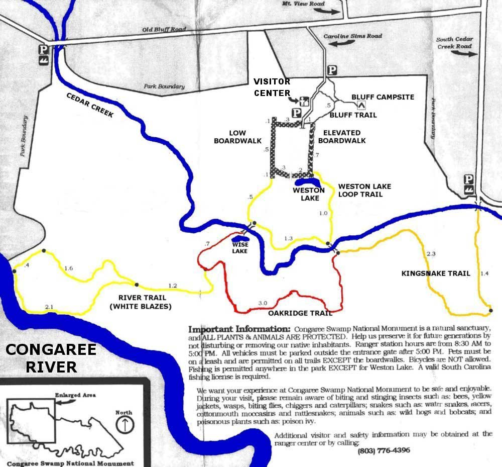 Congaree National Monument Our Map