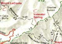Rabun Bald Bartram Trail - Georgia map brasstown bald